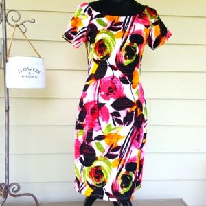Floral Textured MICHAEL TYLER BodyCon Dress (M)